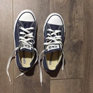 Converse ALL STAR blue low top shoes !!